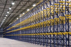 Drive-In Rack at Outside Wall in Warehouse