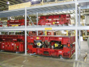 Heavy Product Storage on Unarco Pallet Rack