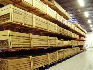 Long Length Product Storage on Cantilever Rack