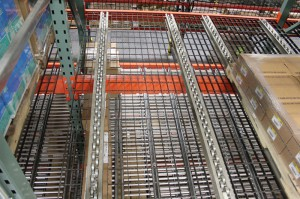 Pallet Flow Rack Top View With Box