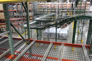 Pallet Flow Rack Shelf Level View in Pick Module