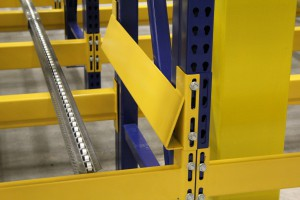 Pallet Flow Rack Bumper Side Rail