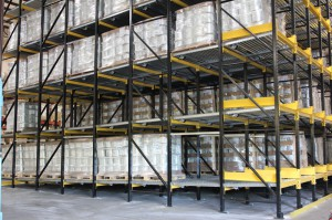Pallet Flow Sloped Shelves