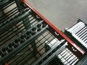 Pallet Flow Rack Staggered Wheel