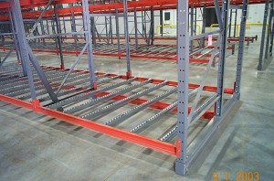 Pallet Flow Racking Structural Beam Installation