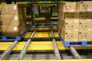 Pallet Flow Lanes With Pallets