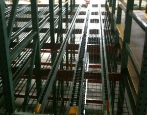 Pallet Flow Rack Upper View
