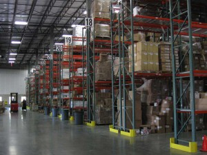 Loaded Pallet Racking In Warehouse