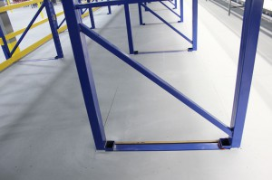 Flooring Detail Arond Pallet Rack Column