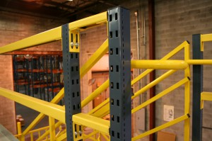 Safety Railing For Pick Module at Top Level