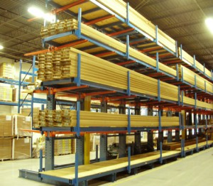 Cantilever Rack Lumber Product Stop Storage