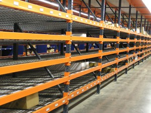 Gravity Racks with Rhinotrac On Pallet Rack