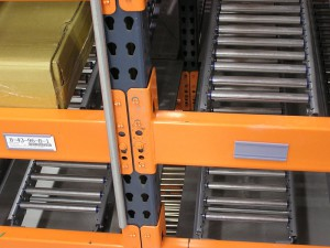 RhinoTrac Shelf Front View on Interchangeable Pallet Rack