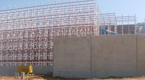 Pallet Rack Supported Building During Construction