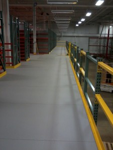 Resin Deck Flooring Option in Picking Module