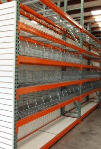 Retail Rack with Wire Basket Display