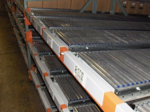 Structural Beam with RhinoTrac Carton Flow Lanes