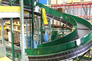 Sortation Conveyor Exit From Pallet Racking