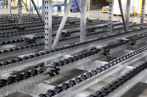 Staggered Pallet Flow for Heavy Pallet Loads or Poor Quality Pallets