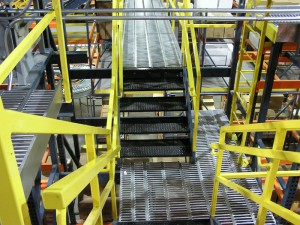 Integrated Stairs in Picking Module