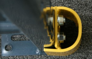 Bolted Upright Straddle Protector Top View