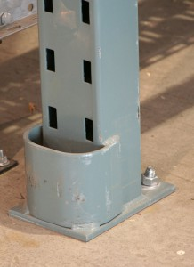 Straddle Protector Welded To Upright