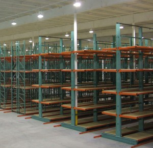 Furniture Storage on Cantilever Rack Deck
