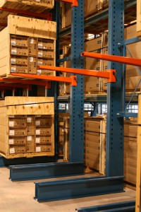 Horizontal Crate Storage Cantilever Rack