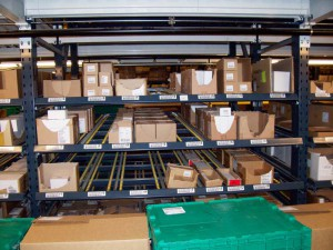 Carton Flow Pallet Racking Bay