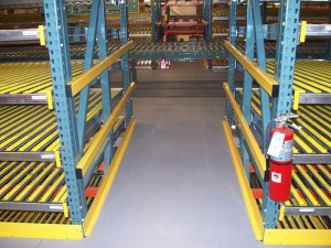 Carton Flow Rack Pick Module Aisle View