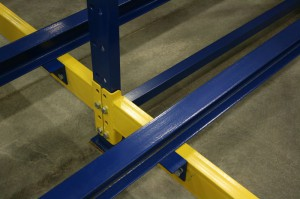 Center Rail Attachment for Push Back Racking System