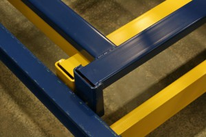 Closeup Push Back Rack Cart