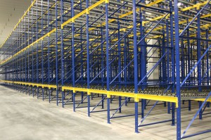 Pallet Flow Rack Down Aisle with Structural Pallet Rack