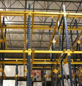 Drive-In Rack System with Structural Steel Rails
