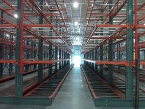 Furniture Cantilever Rack End Aisle View