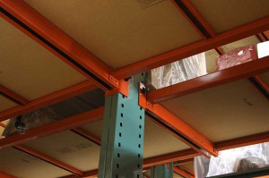 Furniture Cantilever Storage Rack Underside View