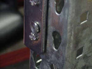 J-Hook in Pallet Rack Beam Front