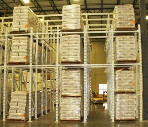 Drive-In Rack System in Distribution Center