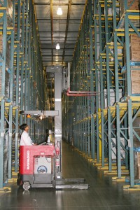 Removal of Pallets from Drive-In Rack System