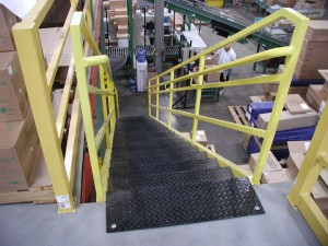 Top of Steel Mezzanine Stairs