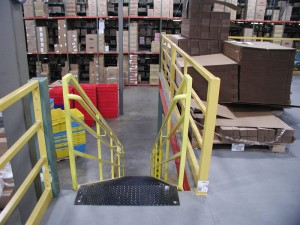 Steel Mezzanine Railing Option