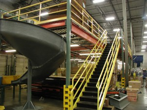 Steel Mezzanine With Conveyor and Sortation