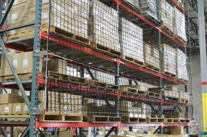Safety Netting with Cordage for Pallet Rack