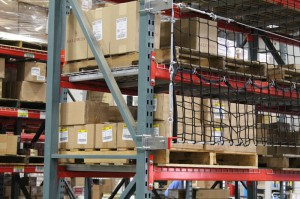 Pallet Rack with Safety Netting Installed