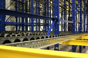 Pallet Flow with Structural Pallet Racking