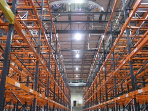 Pallet Rack Aisle From Warehouse Floor