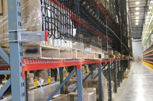 Safety Netting on T-Bolt Pallet Rack