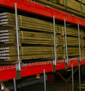 Pallet Rack Beam Mounted Pipe Stops