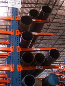 Pipe Storage on Cantilever Rack
