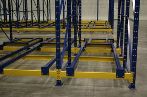 Push Back Rack Rear View With Rails